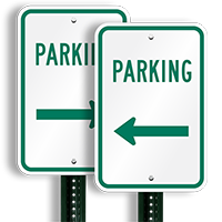 Parking Signs (left arrow)