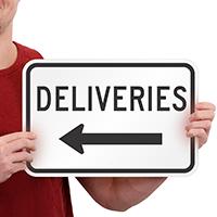 Deliveries Signs (left arrow)