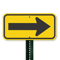 Left or Right Directional Arrow Sign