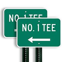 No. 1 Tee Signs (left arrow)