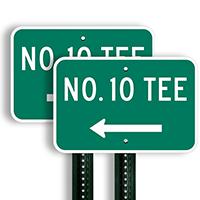 No. 10 Tee Signs (left arrow)
