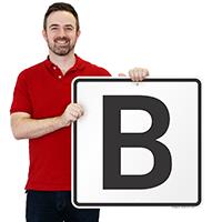 Letter B Parking Spot Signs