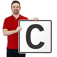 Letter C Parking Spot Signs