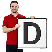 Letter D Parking Spot Signs