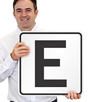 Letter E Parking Spot Signs