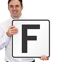 Letter F Parking Spot Signs