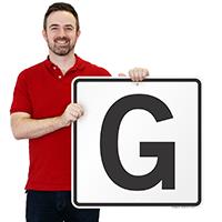 Letter G Parking Spot Signs