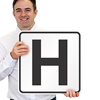 Letter H Parking Spot Signs