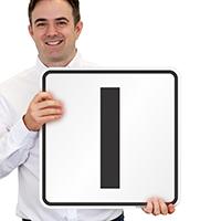 Letter I Parking Spot Signs