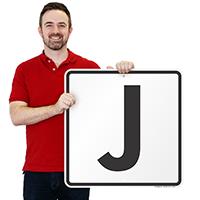 Letter J Parking Spot Signs