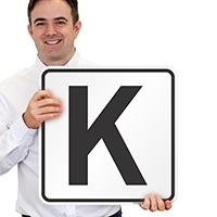 Letter K Parking Spot Signs