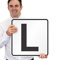 Letter L Parking Spot Signs