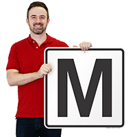 Letter M Parking Spot Signs