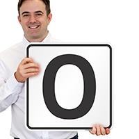 Letter O Parking Spot Signs