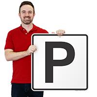 Letter P Parking Spot Signs