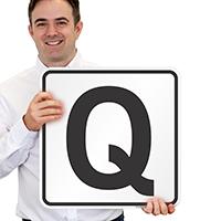 Letter Q Parking Spot Signs