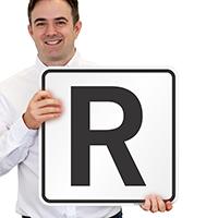 Letter R Parking Spot Signs