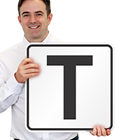 Letter T Parking Spot Signs