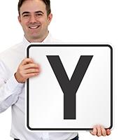 Letter Y Parking Spot Signs