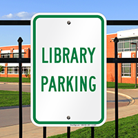 LIBRARY PARKING Signs