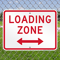 Loading Zone, Bidirectional Parking Restriction Signs