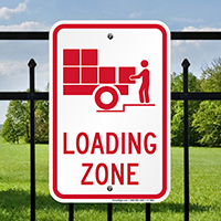 Loading Zone Sign (With Graphic)