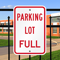 PARKING LOT FULL Sign
