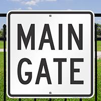Main Gate ID Sign