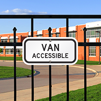 Van Accessible Maryland Sign