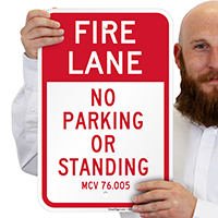 Michigan Fire Lane No Parking Signs