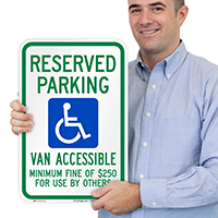 Nevada Reserved Parking, Van Accessible Signs