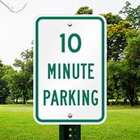 Ten Minute Parking Signs
