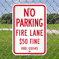 Missouri Fire Lane No Parking Signs