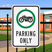 Motorcycle Parking Only Signs