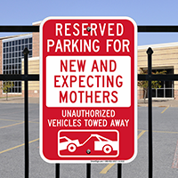 Reserved Parking For New And Expecting Mothers Signs