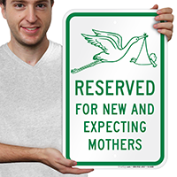 Reserved New Expecting Mothers Signs