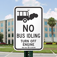 State Idle Signs for School Buses, Minnesota