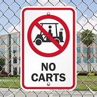 No Carts Signs