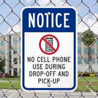 No Cell Phone OSHA Notice Signs
