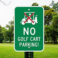 No Golf Cart Parking Signs