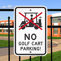 No Golf Cart Parking Rules Signs