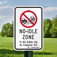 State Idle Signs for Maine
