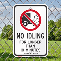 State Idle Signs for Rhode Island