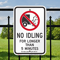 State Idle Signs for Philadelphia, Heavy Diesel Vehicles
