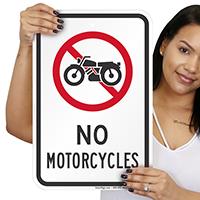 No Motorcycles Signs