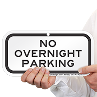 No Overnight Parking Aluminum Signs