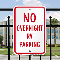 No Overnight RV Parking Signs