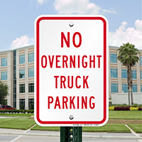 No Overnight Truck Parking Signs