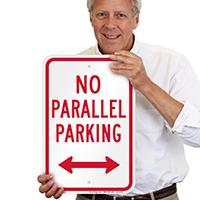 No Parallel Parking, Bidirectional Arrow Signs