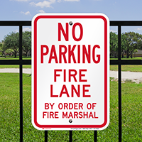 No Parking at Fire Lane Signs